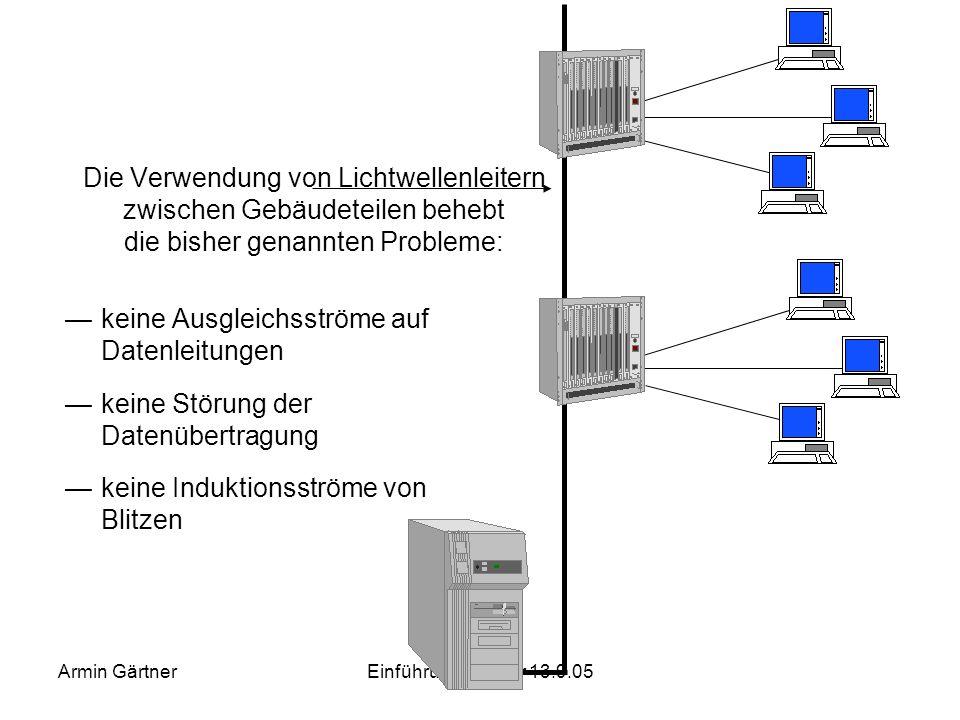 Armin GärtnerEinführungseminar 13.9.05 Die bessere Elektroinstallation: TN-S Netz nach VDE 0100 Teil 710 Dazu wird ein separater Erdleiter eingezogen.