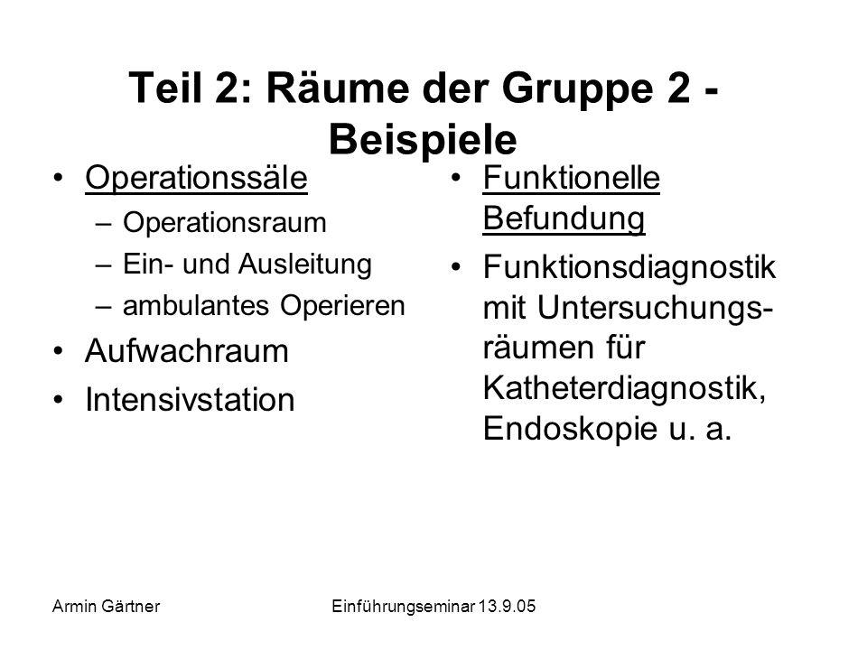 Armin GärtnerEinführungseminar 13.9.05 Teil 2: Ergometriemeßplatz im Raum der Gruppe 1