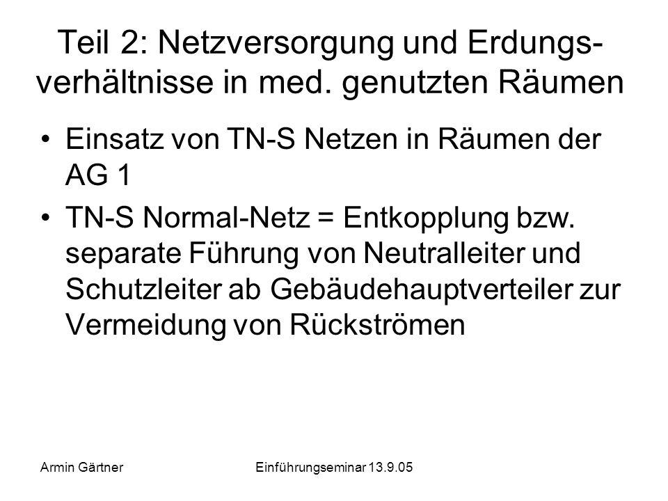 Armin GärtnerEinführungseminar 13.9.05 Narkosebeatmungsgerät mit PC