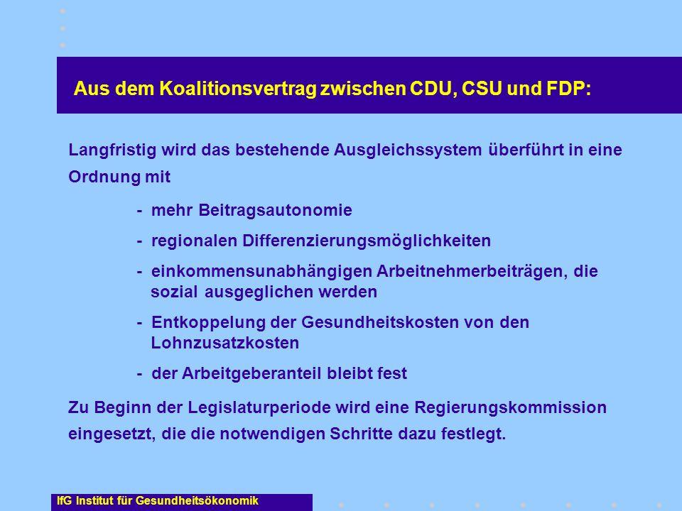 Langfristig wird das bestehende Ausgleichssystem überführt in eine Ordnung mit - mehr Beitragsautonomie - regionalen Differenzierungsmöglichkeiten - e