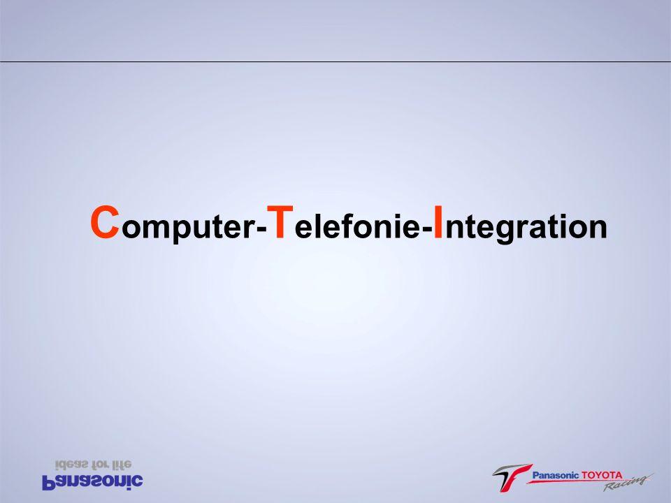 C.T.I.1. party PC-Console Ý Alle Gespräche und Gesprächsversuche werden protokolliert.