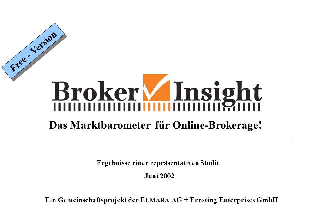 Das Marktbarometer für Online-Brokerage.