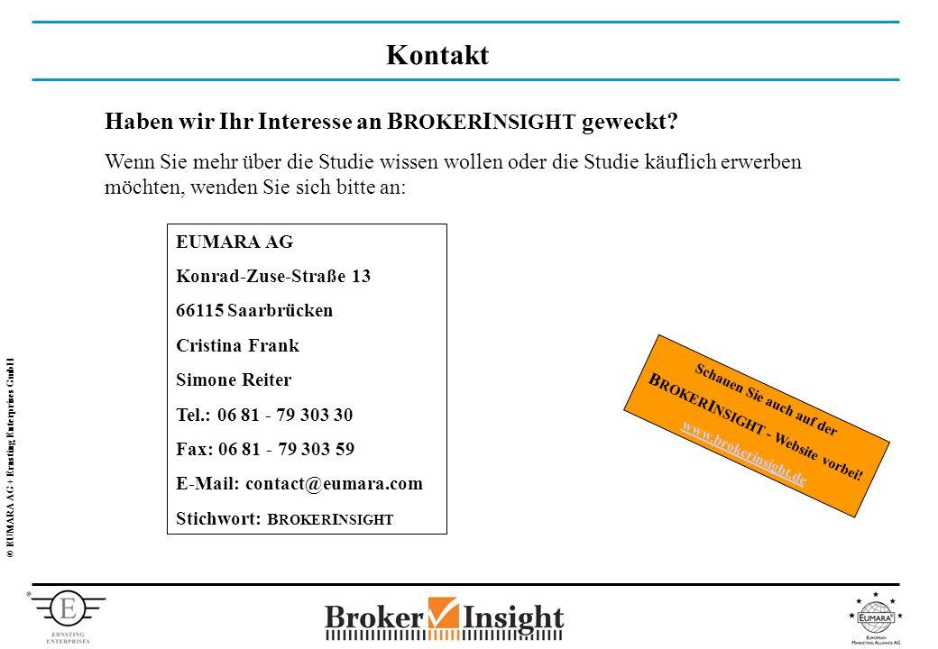© EUMARA AG + Ernsting Enterprises GmbH Kontakt Haben wir Ihr Interesse an B ROKER I NSIGHT geweckt.