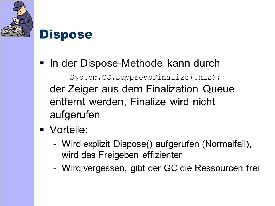 Resurrection F-reachable Queue Zeiger werden als Wurzelzeiger aufgefaßt -D.h.