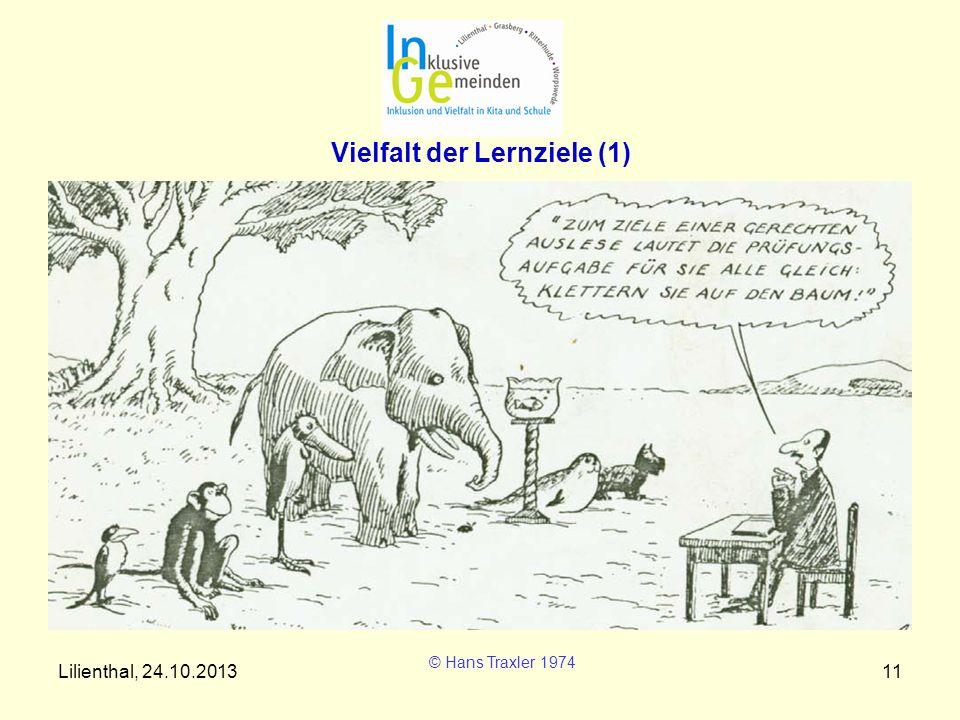 Lilienthal, 24.10.201311 Vielfalt der Lernziele (1) © Hans Traxler 1974