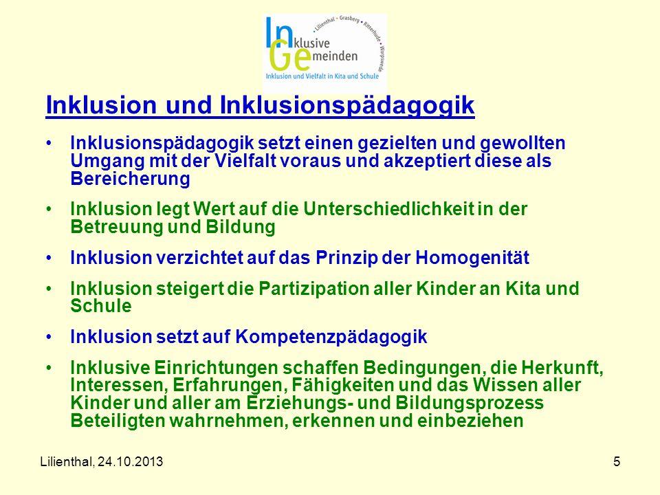 5 Inklusion und Inklusionspädagogik Inklusionspädagogik setzt einen gezielten und gewollten Umgang mit der Vielfalt voraus und akzeptiert diese als Be