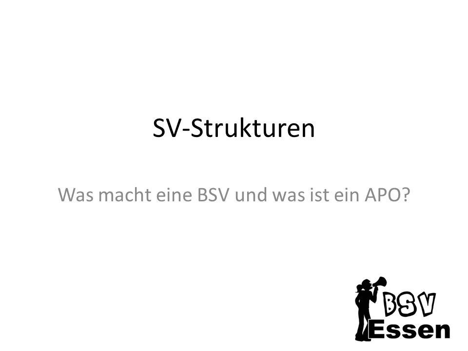 SV-Strukturen Was macht eine BSV und was ist ein APO