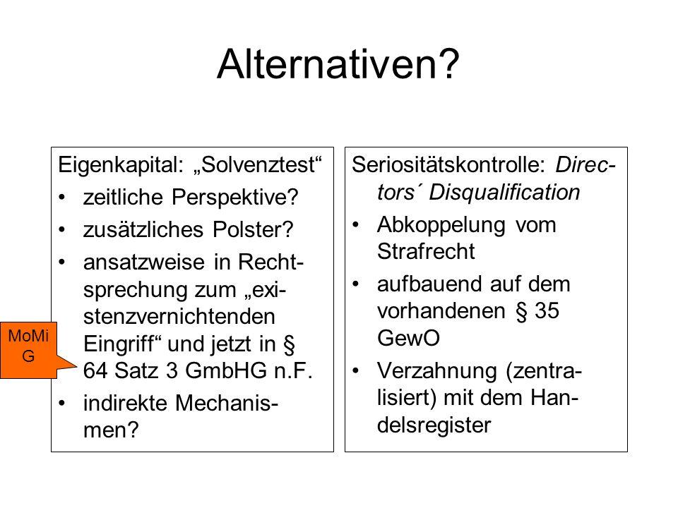 Mindestkapital bei der klassischen GmbH.