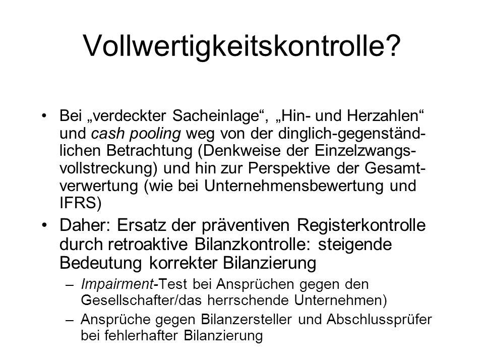 Solvenztest des § 64 (Abs. 2) Satz 3 GmbHG n.F. (II) Voraussetzung daher: Solvenzprognose als Fortbestehensprognose –Zahlungsunfähigkeitsprognose (IDW
