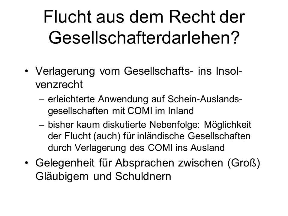 Ermöglichung der Sitzverlegung deutscher Kapitalgesellschaften ins Ausland durch Aufhebung von § 4a GmbHG, § 5 Abs. 2 AktG AG Problematik der Inländer