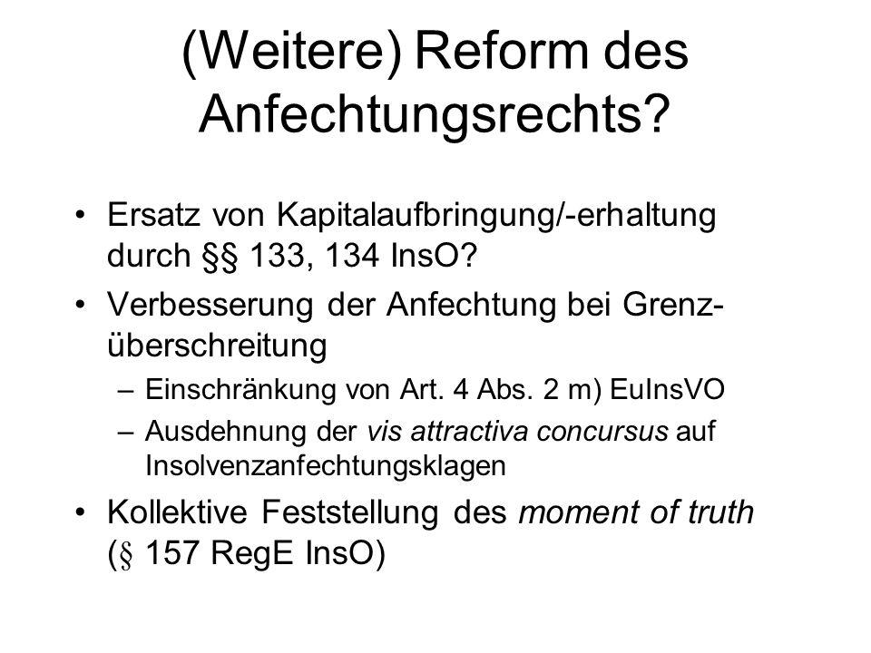 MoMiG zu Bestellungsverboten Erweiterung der Inhabilitätsgründe bei der Bestellung (§ 8 Abs. 2 GmbHG-E, § 76 Abs. 3 AktG-E) aber: bislang nicht auf St