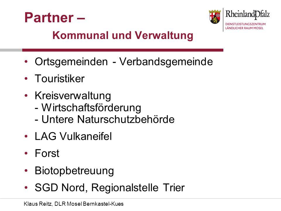 Klaus Reitz, DLR Mosel Bernkastel-Kues Partner – Kommunal und Verwaltung Ortsgemeinden - Verbandsgemeinde Touristiker Kreisverwaltung - Wirtschaftsför