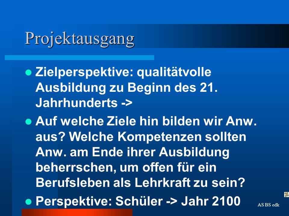 Projektausgang Veränderte Kindheit -> Veränderte Voraussetzungen der Anw.