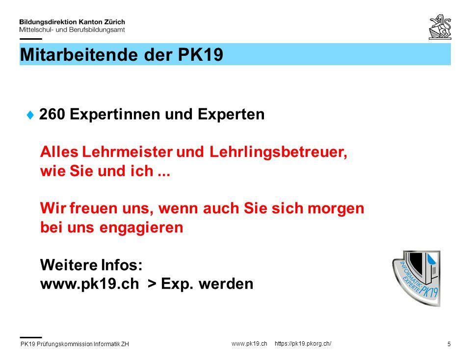 PK19 Prüfungskommission Informatik ZH www.pk19.ch https://pk19.pkorg.ch/ 26 FA Beobachtung / Bewertung