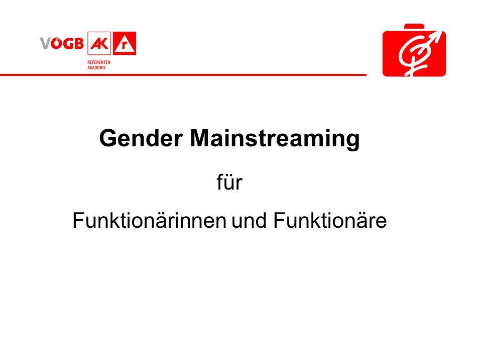 Gender Mainstreaming für Funktionärinnen und Funktionäre