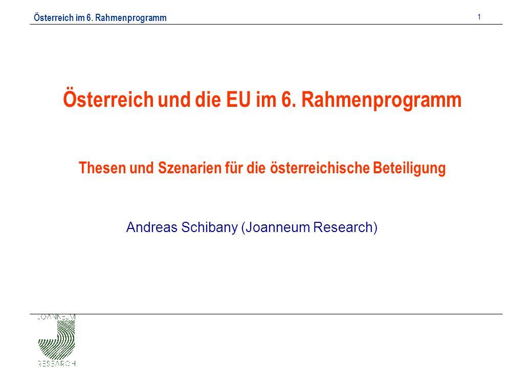 Österreich im 6. Rahmenprogramm 1 Österreich und die EU im 6.
