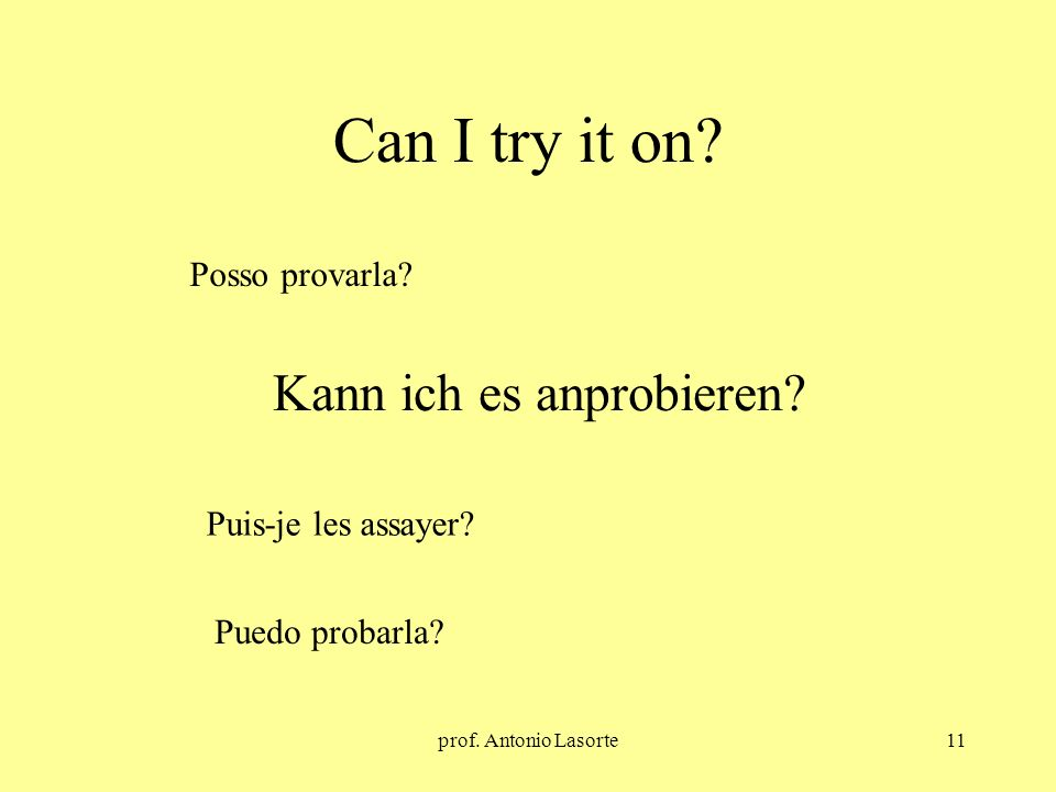 prof.Antonio Lasorte11 Can I try it on. Kann ich es anprobieren.