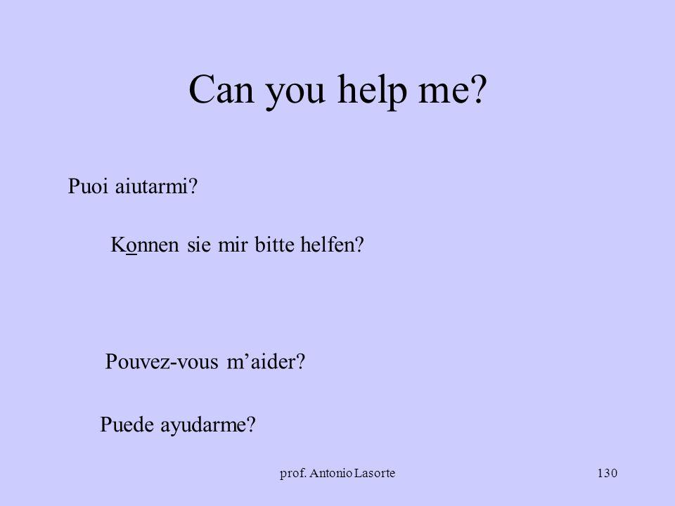 prof. Antonio Lasorte130 Can you help me? Puoi aiutarmi? Konnen sie mir bitte helfen? Pouvez-vous maider? Puede ayudarme?