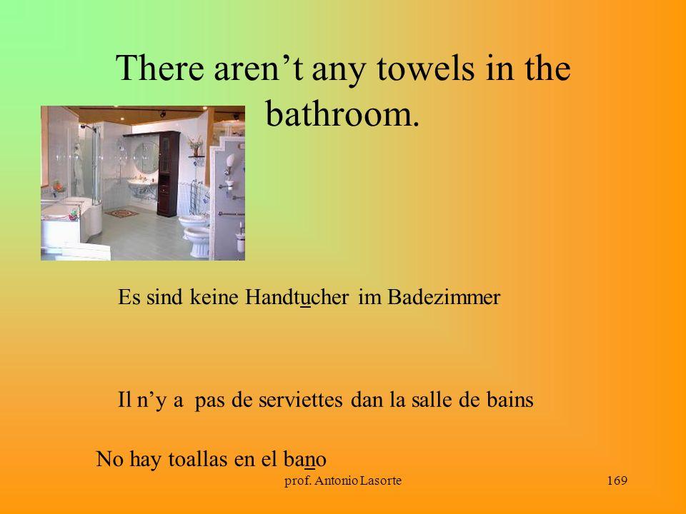 prof. Antonio Lasorte169 There arent any towels in the bathroom. Il ny a pas de serviettes dan la salle de bains Es sind keine Handtucher im Badezimme