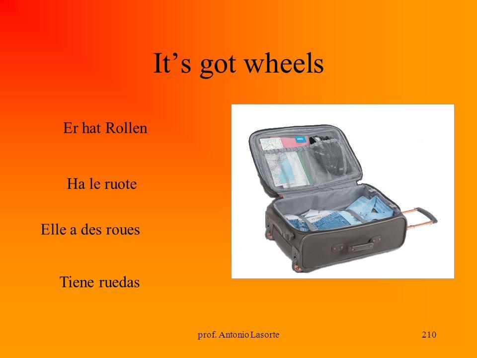 prof. Antonio Lasorte210 Its got wheels Ha le ruote Tiene ruedas Er hat Rollen Elle a des roues
