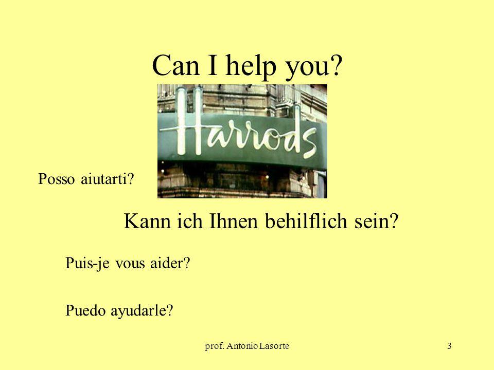 prof. Antonio Lasorte3 Can I help you? Kann ich Ihnen behilflich sein? Posso aiutarti? Puis-je vous aider? Puedo ayudarle?