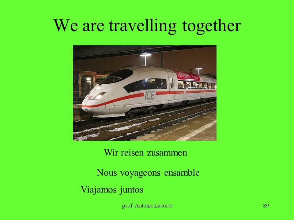 prof. Antonio Lasorte89 We are travelling together Wir reisen zusammen Nous voyageons ensamble Viajamos juntos