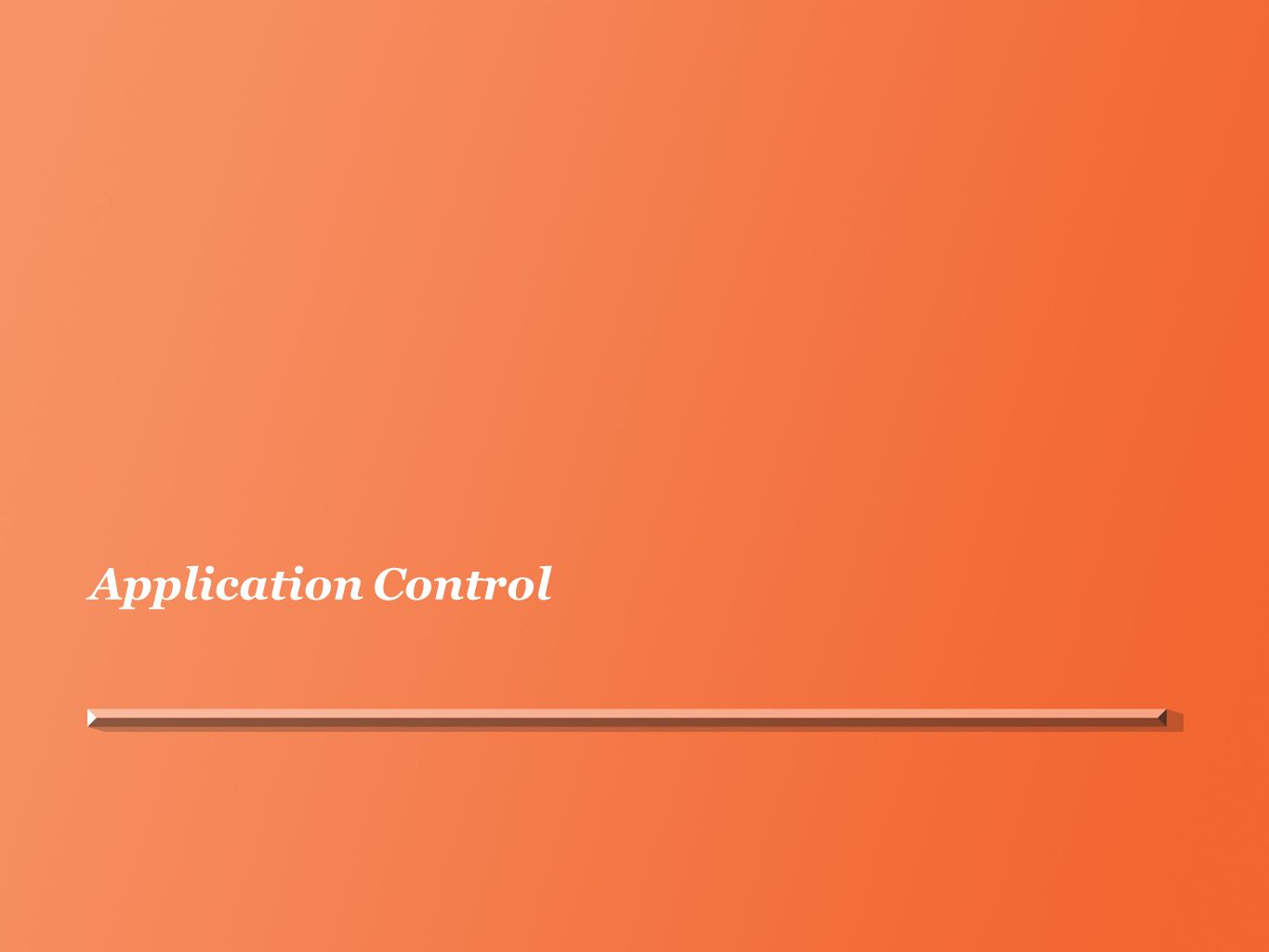 Application Control