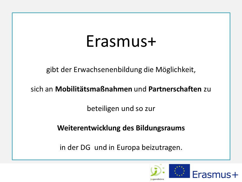 Europäischer Entwicklungsplan Welche bildungspolitischen und gesellschaftlichen Herausforderungen kommen 2014-2020 auf die Erwachsenenbildung zu.