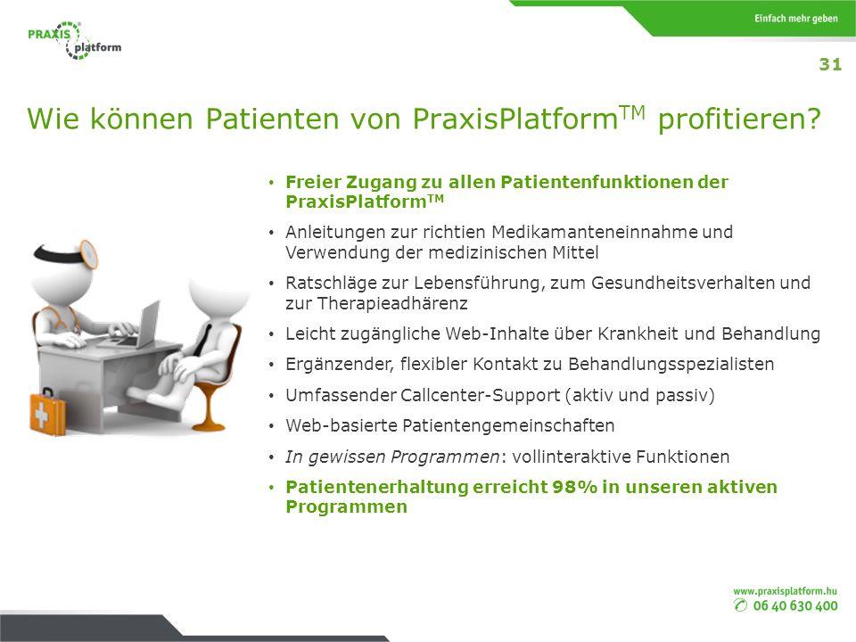Wie können Patienten von PraxisPlatform TM profitieren? Freier Zugang zu allen Patientenfunktionen der PraxisPlatform TM Anleitungen zur richtien Medi