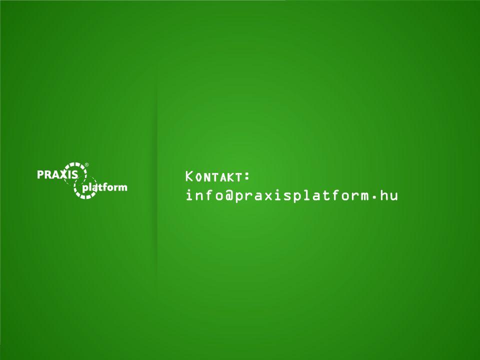 K ONTAKT : info@praxisplatform.hu