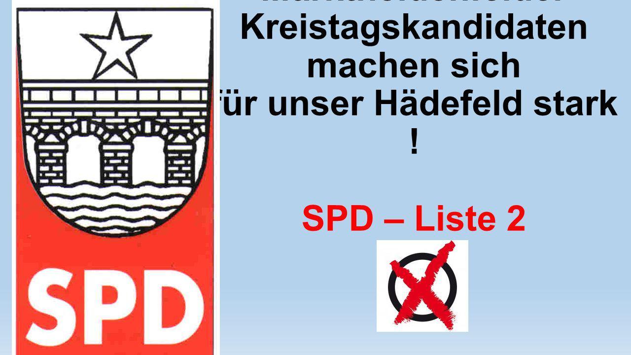 Unsere Marktheidenfelder Kreistagskandidaten machen sich für unser Hädefeld stark ! SPD – Liste 2