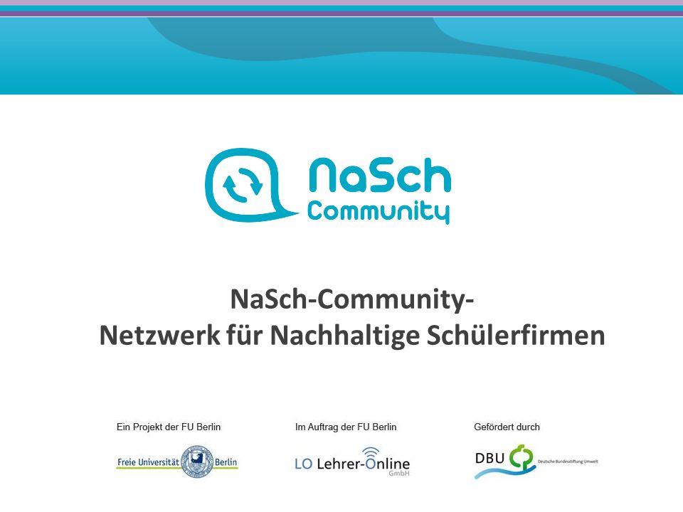 NaSch-Community- Netzwerk für Nachhaltige Schülerfirmen