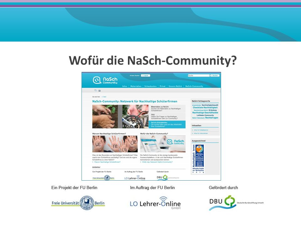 Wofür die NaSch-Community