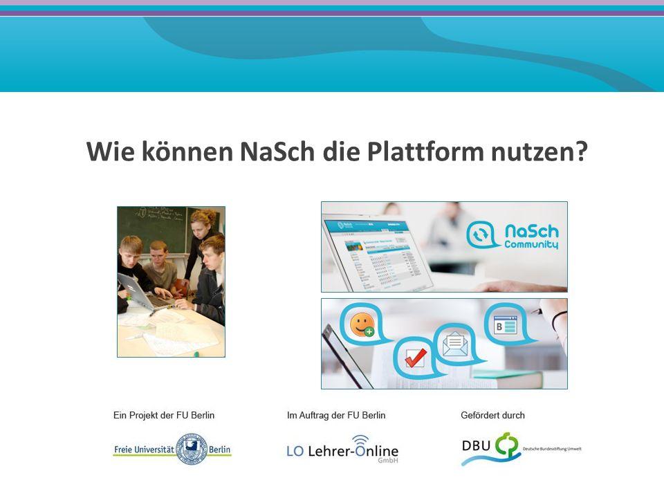 Präsentation der NaSch-Aktivitäten öffentliches Schülerfirmenprofil eigene Homepage Präsentation im offen zugänglichen Schaukasten der NaSch-Community