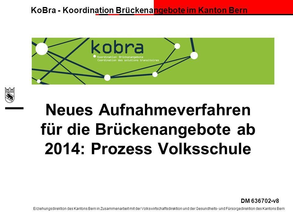 Erziehungsdirektion des Kantons Bern in Zusammenarbeit mit der Volkswirtschaftsdirektion und der Gesundheits- und Fürsorgedirektion des Kantons Bern K