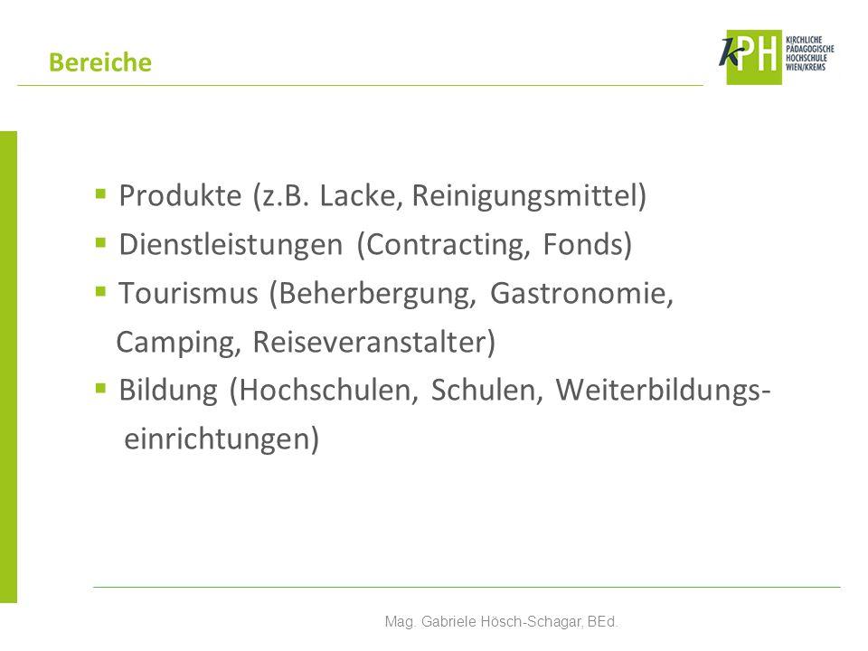 Produkte (z.B.