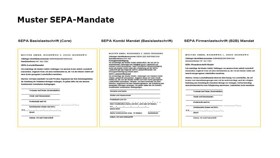 Muster SEPA-Mandate
