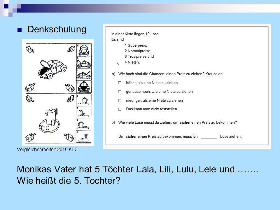 Denkschulung Vergleichsarbeiten 2010 Kl.