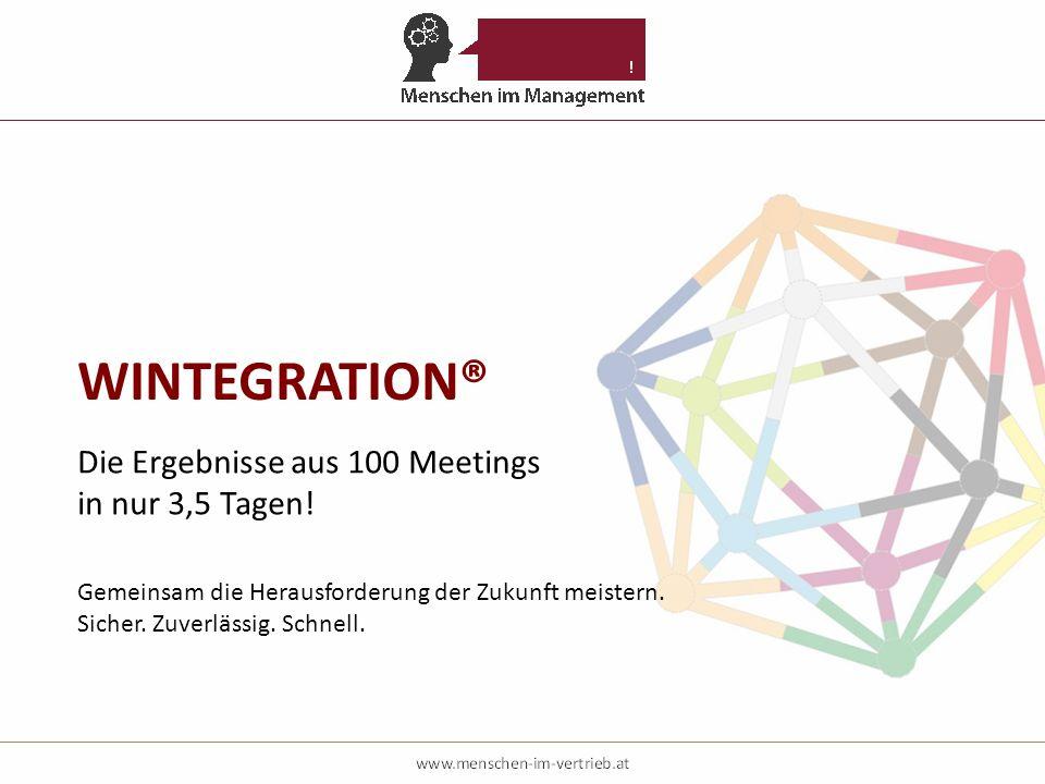 Die Ergebnisse aus 100 Meetings in nur 3,5 Tagen! Gemeinsam die Herausforderung der Zukunft meistern. Sicher. Zuverlässig. Schnell.