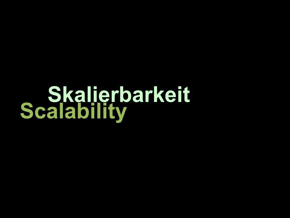 Skalierbarkeit Scalability