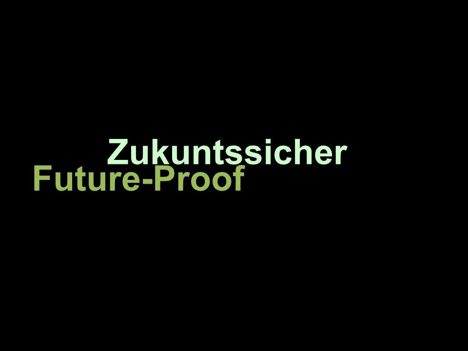 Zukuntssicher Future-Proof