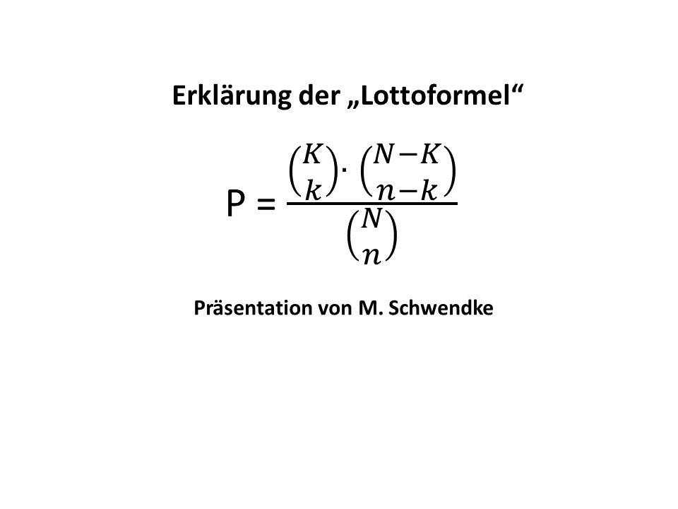 Präsentation von M. Schwendke