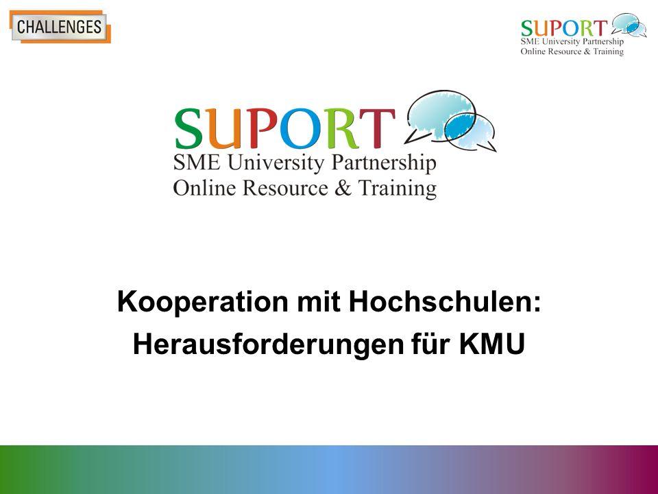 Kooperation mit Hochschulen: Herausforderungen für KMU