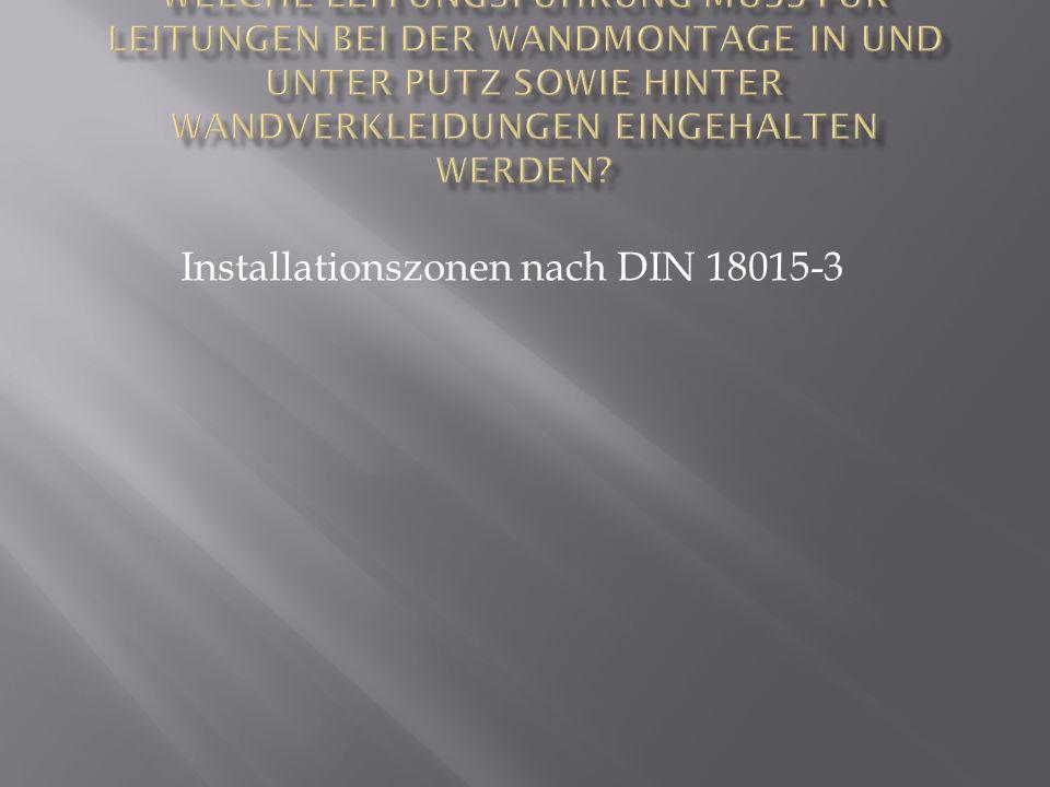 Installationszonen nach DIN 18015-3