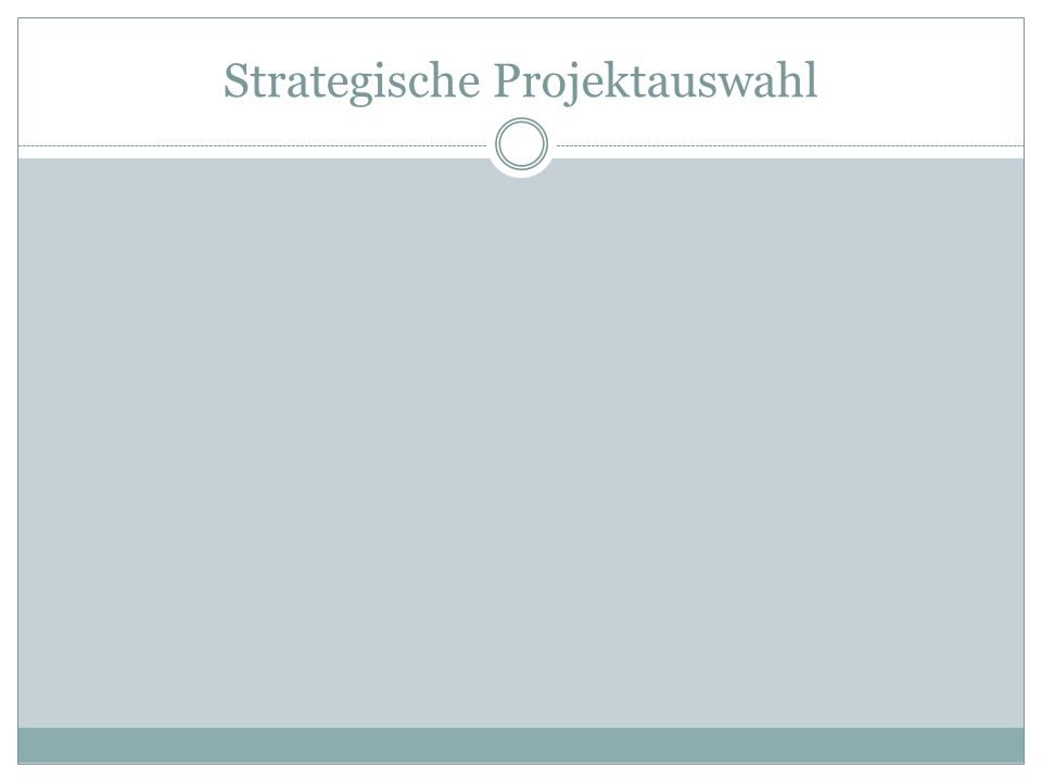 Strategische Projektauswahl