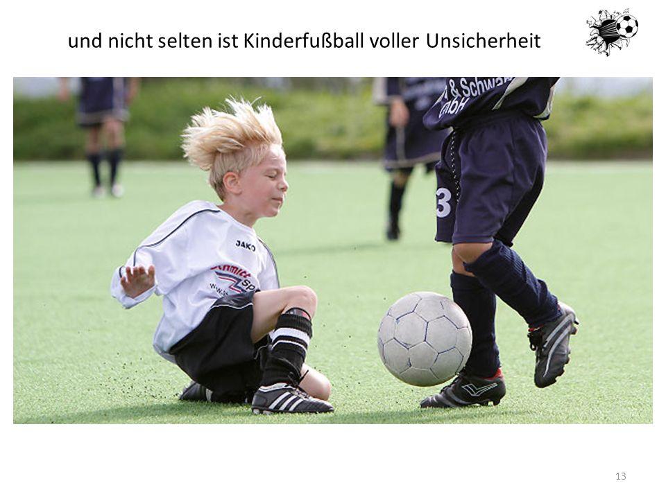 16.05.201413 und nicht selten ist Kinderfußball voller Unsicherheit
