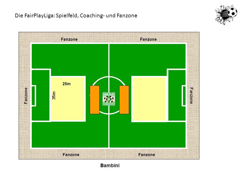 Bambini Fanzone 25m 35m Die FairPlayLiga: Spielfeld, Coaching- und Fanzone