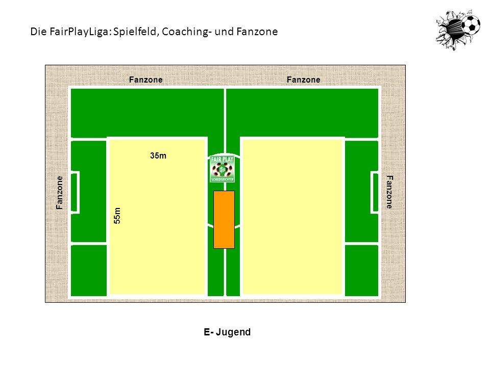 E- Jugend Fanzone 35m 55m Die FairPlayLiga: Spielfeld, Coaching- und Fanzone