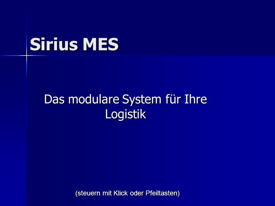 Sirius MES Das modulare System für Ihre Logistik (steuern mit Klick oder Pfeiltasten)