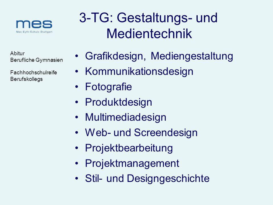 Abitur Berufliche Gymnasien Fachhochschulreife Berufskollegs 3-TG: Gestaltungs- und Medientechnik Grafikdesign, Mediengestaltung Kommunikationsdesign